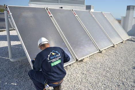instalación de placas solares para edificios